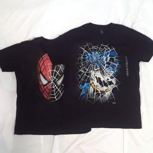 Dc Comics + Spider-Man t-shirts XL